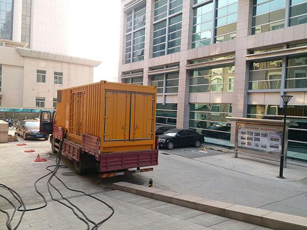 长沙星城县静音发电机出租案列